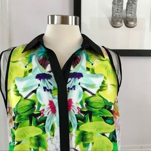 Prabal Gurung colorful abstract floral blouse